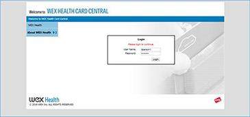 Screenshot of Wex Website
